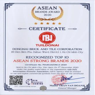THƯƠNG HIỆU GẠCH NGÓI ĐỒNG NAI – TUILDONAIĐẠT TOP 10 THƯƠNG HIỆU MẠNH ASEAN 2020